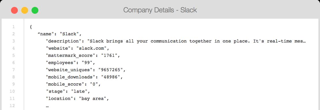 Mattermark API - Developer Tools - REST & GraphQL - Company Data